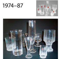 Alvar Aalto, Pressed Glass, Glass Collection, Scandinavian Design, Finland, Dinnerware, Shot Glass, Mid-century Modern, Mid Century
