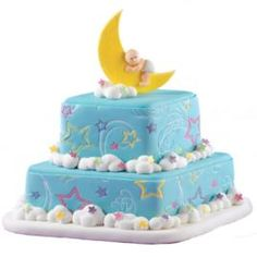 Lunar Lullabyes baby shower cake.