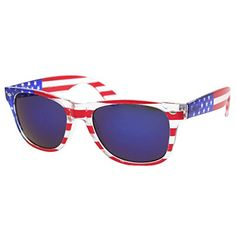 d8fd5daf14a grinderPUNCH American Patriot Flag Wayfarer Sunglasses Reflective Lens USA  Shades 4th of July    You