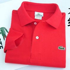 Lacoste Polo Long Sleeve Classic Shirt Red  #CheapLacoste #CheapLacosteLongSleeve #Polos #LacostePolos #LacostePoloShirts #StylishLacosteShirts #LacosteForCheap