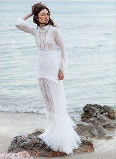 Costarellos Bridal Collection, boho lace