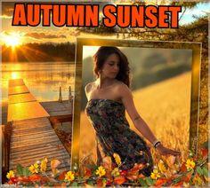 sunset at autumn