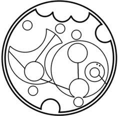 Hakuna Matata in circular Gallifreyan