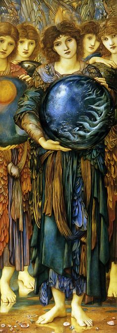 "Pre-Raphaelite Painting:  ""Days of Creation:  The Fifth Day,"" by Edward Burne-Jones (1833 – 1898).  #Pre-Raphaelite."