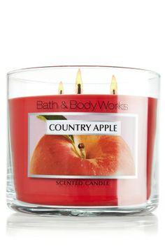 Country Apple 14.5 oz. 3-Wick Candle - Slatkin & Co. - Bath & Body Works