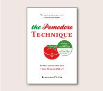 The Pomodoro Technique is a time management method developed by Francesco Cirillo in the late 1980s. The technique uses a timer to break down work into 25 minute pomodoros.