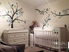 Baby Wandtattoo Animal Koala Bear Baum Wandaufkleber Sie