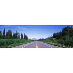 George Parks Highway AK Canvas Art - Panoramic Images (36 x 12)