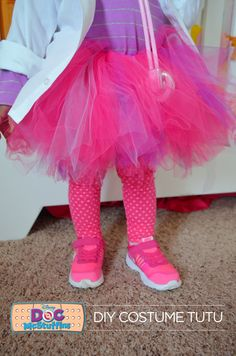 Does your little one love Doc McStuffins as much as mine? Make this awesome DIY Doc McStuffins halloween costume with supplies from @walmart , including this cute tutu. #wmtmoms
