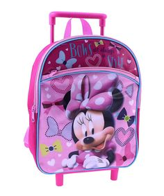 Loving this Pink Minnie Mouse Rolling Backpack on #zulily! #zulilyfinds