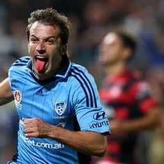 Alessandro Del Piero - Sydney FC Sydney Fc, Football Players, Brisbane, Soccer, Casual, Sports, Mens Tops, Soccer Players, Football