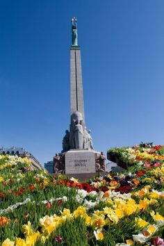 The Freedom monument in Riga.