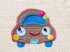 Crochet Pattern Car Applique Instant by Simplepatterndesigns Crochet Car, Bonnet Crochet, Crochet Kids Hats, Crochet Beanie, Motifs D'appliques, Crochet Motifs, Applique Patterns, Knitting Patterns, Crochet Patterns