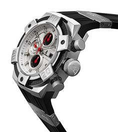 CALABRIA - ARMATO BRILLANTE - White Chronograph Men Watch with Carbon Fiber Bezel