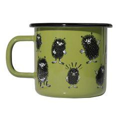 Muurla Moomin Stinky Enamel Mug, Green Moomin Shop, Moomin Mugs, Green Mugs, Sandy Toes, Kitchen Items, Table Settings, Enamel, Make It Yourself, Dining