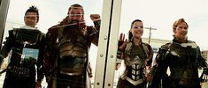 Lady Sif and the Warriors Three... *gif* Hogun is adorable!