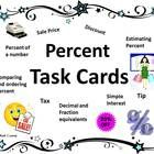 On Sale! These percent task cards are fantastic! They include 40 cards, answer sheets, and an answer key. Your students will love working with these task. Common Core Math, Percents, Fifth Grade, 5th Grades, Task Cards, Middle School, Classroom Ideas, Homeschool, Students