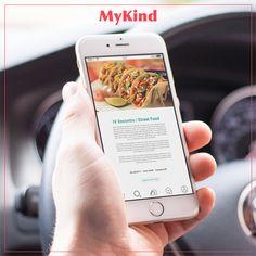 Será que tem evento de comida de rua por perto hoje? Abra o seu app, clique no ícone de Pesquisa e, sem seguida, em Agenda. Lembrando que você pode agendar eventos e o MyKind te avisa quando chegar o dia!