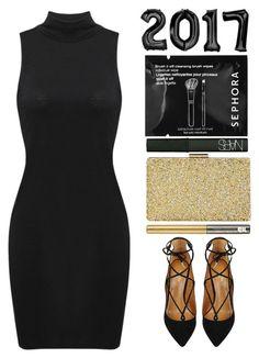 Hello 2017 Goodbye 2016! by britney-brit on Polyvore featuring polyvore fashion style Aquazzura Sasha NARS Cosmetics Urban Decay Sephora Collection clothing