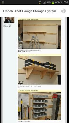 French Cleat Storage System