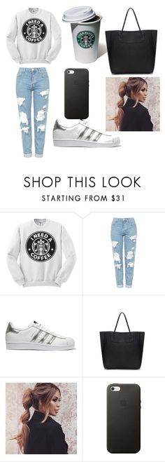 """Untitled #229"" by timcaaa on Polyvore featuring Topshop and adidas Originals"
