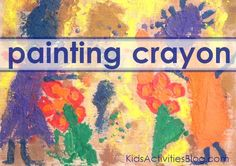 Painting with melted crayons: My Preschooler's Self-Portrait