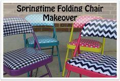 Riley Blake Designs -- Cutting Corners: Springtime Folding Chair Makeover