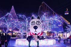 Yomiuriland's main character GOOD is waiting for you this winter! Yomiuriland Jewellumination 2016.10.14~2017.2.19 #japankuru #japan #tokyo #yomiuriland #park #lights #character #good