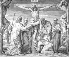 Bilder der Bibel - Der Tod Jesu am Kreuze - Julius Schnorr von Carolsfeld