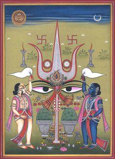 Shiva And Shakti Shiva Art, Shiva Shakti, Hindu Art, Durga, Tantra Art, Indian Art Gallery, Indian Paintings, Art Paintings, Hindu Deities