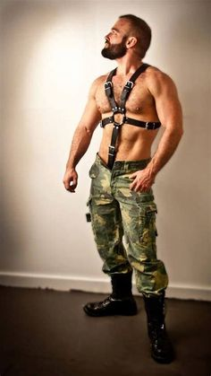 Image result for Bodybuilder Gay Leather Harness