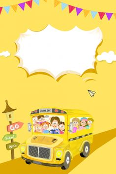 Campus Home Season Fondo amarillo Hand Drawn Poster Season Opening Cartoon Yellow Promotion -