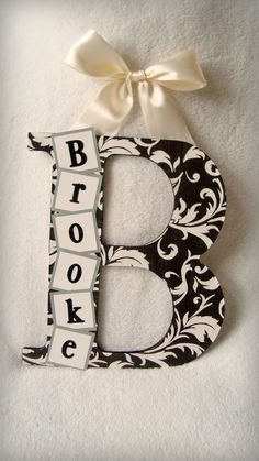 Custom Wood Letters...CUTE!!!