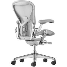 Buy Herman Miller Aeron Office Chair, Mineral/Polished Aluminium from our Office Chairs range at John Lewis & Partners. Herman Miller Aeron Chair, Co Design, Ergonomic Chair, Chair Backs, Mesh Material, Visual Comfort, Body Heat, Industrial Design, Minerals