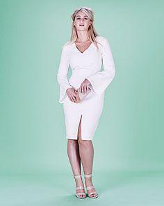 3000047f8d652 Lavish Alice Bell Sleeve Midi Dress