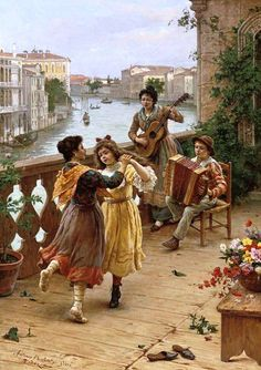 Kai Fine Art is an art website, shows painting and illustration works all over the world. Romantic Paintings, Beautiful Paintings, Vintage Music, Vintage Art, Italian Painters, Italian Artist, Realistic Paintings, Victorian Art, Art Music