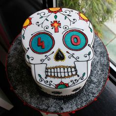 Day of the Dead Birthday Cake...