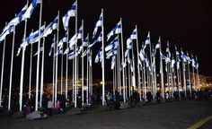 100 flags for 100 independent years of Finland in Helsinki/ Dec. Finnish Words, Year Of Independence, Best Cities, Helsinki, Homeland, Finland, Wind Turbine, Denmark, Random Things
