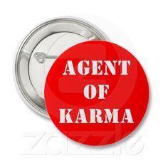 An appropriate button for Karma Talent.