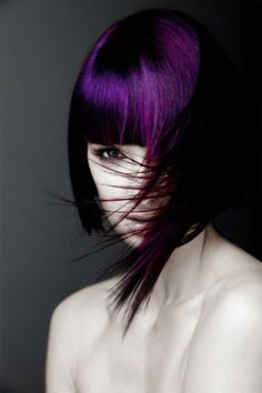 If you dare, do this hair! Deep Color with Purple.