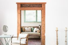 The Ananda suite is truly special. With carved reclaimed Indian doors, handpicked eclectic pieces of furniture and stunning 100yr old brick floors this bedroom is a retreat itself.. With Interrupted views of the Mediterranean from the glass sliding doors it really doesn't get much better then this. Retreat heaven