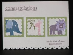 Wild About You Baby Congratulations by addicted2crafts - Cards and Paper Crafts at Splitcoaststampers