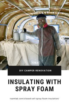 Keep the cold out and cut back on condensation with a DIY insulation: applying closed cell spray foam in an aluminum 1970 Avion C11 truck camper.  #diy #doityourself #truckcamper #rv #camper #renovation #sprayfoam #insulation Do It Yourself Camper, Slide In Truck Campers, Roof Hatch, Spray Foam Insulation, Camper Renovation, Diy Camper, Remodeled Campers, Diy Bed, Trucks