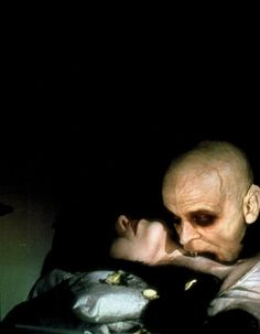 """Klaus Kinski & Isabelle Adjani in Nosferatu the Vampyre (1978) - """"I never thought of my film Nosferatu as being a remake. It stands on its own feet as an entirely new version..It is a very clear declaration of my connection to the very best of German cinema, and though I have never truly functioned in terms of genres, I did appreciate that making a film like Nosferatu meant understanding the basic principles about the vampire genre."""