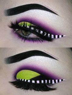 "Mind-Blowing Halloween Makeup Looks dayeyemakeup History of eye makeup ""Eye care"", Makeup Eye Looks, Dramatic Eye Makeup, Colorful Eye Makeup, Eyeshadow Looks, Eyeshadow Makeup, Eyeshadow Ideas, Beetlejuice Makeup, Cool Halloween Makeup, Makeup Ideas"
