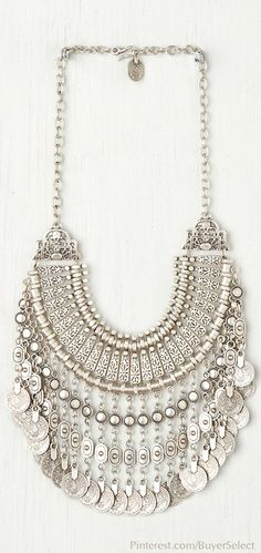 gypsy style coin collar necklace
