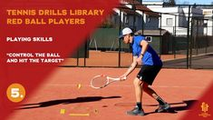 Red ball players drills and exercises Tennis Videos, Tennis Workout, Player 1, Drills, Exercises, Basketball Court, Target, Fitness, Red