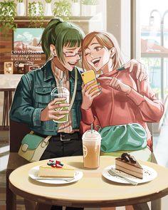 Fanarts Anime, Anime Manga, Anime Characters, Anime Art, Yuri, Anime Group, Fb Memes, Anime Ships, Me Me Me Anime