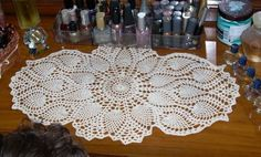 small crocheted table runner patterns | free pineapple table runner crochet pattern PDF | Crochet! Crochet!