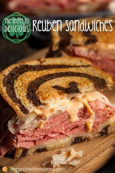 Reuben Sandwich Recipes   Corned Beef Recipes   Homemade Thousand Island Dressing #sandwiches #reubens